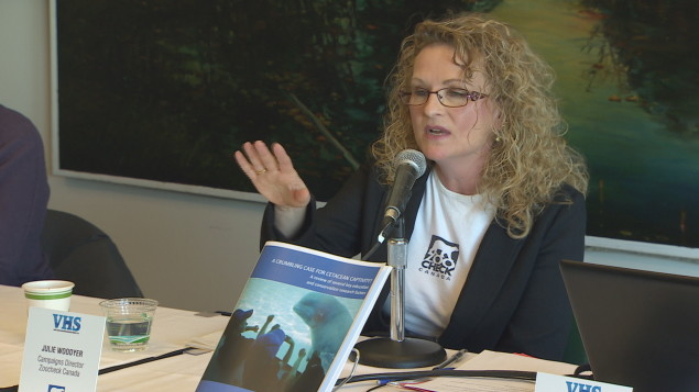 Julie Woodyer, directrice de campagne de Zoocheck Canada. Photo : Radio-Canada